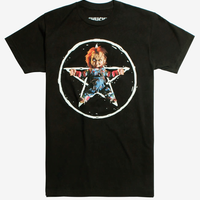 【USA直輸入】Child's Play チャイルドプレイ Chucky  チャッキー ペンタグラム Tシャツ Sサイズ ホラー グッドガイ グッドガイ人形 Pentagram