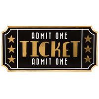 【USA直輸入】ウォールデコ ムービー チケット型  壁掛け 看板 インテリア  ポスター