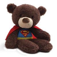【USA直輸入】DC GUND ガンド ぬいぐるみ プラッシュ 36㎝ ファジーベア スーパーマン クマ  Superman DCコミックス
