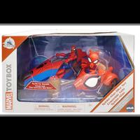【USA直輸入】MARVEL マーベル TOYBOX  スパイダーマン & スパイダーハム バイクセット  サイドカー 音声付き アクションフィギュア トイボックス Spider-Man