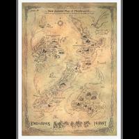 【USA直輸入】ロードオブザリング 中つ国 マップ ポスター  Middle earth ミドルアース  Lord of The Rings 地図