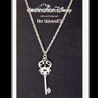 【USA直輸入】Disney ディスティネーション ディズニーキャッスル 鍵型 ネックレス ディズニー アクセサリー ペンダント
