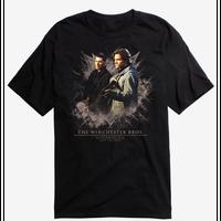 【USA直輸入】スーパーナチュラル ウィンチェスター兄弟 黒地 Tシャツ Supernatural  ディーン サム 銃 ウィンチェスター