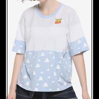 【USA直輸入】DISNEY トイストーリー 雲柄 Toy Story ロゴ オーバーサイズ Tシャツ シャツ ディズニー ピクサー ウッディ バズ 雲 アンディの部屋