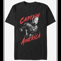 【USA直輸入】MARVEL アベンジャーズ エンドゲーム キャプテンアメリカ Tシャツ ハイ コントラスト マーベル 映画 MCU Captain America