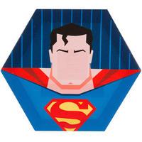 【USA直輸入】DC スーパーマン 6角形 キャンバス ウォールデコ 看板 ポスター   壁掛け インテリア DCコミックス
