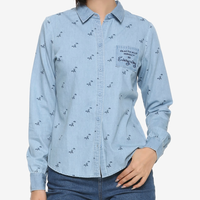 【USA直輸入】DISNEY メリー・ポピンズ リターンズ ボタンダウンシャツ Practically perfect 長袖 ディズニー シャツ Mary Poppins メリーポピンズ