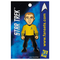 【USA直輸入】スタートレック カーク 船長 ピンズ スタトレ  Star Trek ピン Captain Kirk キャプテン デフォルメ Pin