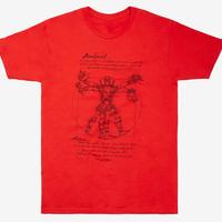 【USA直輸入】MARVEL デッドプール ウィトルウィウス的人体 Mサイズ Tシャツ マーベル デップ Vitruvian Man