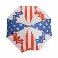 【USA直輸入】DCコミックス ワンダーウーマン ロゴ 折り畳み傘 傘 正規ライセンス品