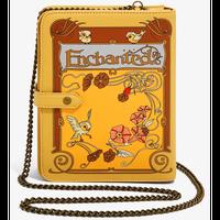 【※ご予約商品・USA直輸入】DISNEY 魔法にかけられて Enchanted ストーリーブック型 クロスボディバッグ ショルダーバッグ ディズニー ラウンジフライ  Loungefly 肩掛け