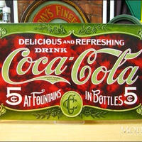 アメリカン ブリキ看板  コカコーラ 1900年モデル コカ・コーラ    看板  企業