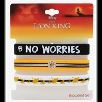 【USA直輸入】DISNEY ライオンキング NO WORRIES シンバ ティモン プンバ ラバー ブレスレット 3点セット Lion King ディズニー バングル アクセサリー