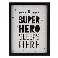 【USA直輸入】木製 ウォールデコ スーパーヒーロー スリープ ヒアー 看板  ポスター  壁掛け インテリア  ヒーロー