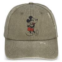 【USA直輸入】DISNEY  ミッキー クラシック グレー キャップ 帽子 ベースボール ハット ミッキーマウス  ビンテージ加工 スナップバック