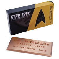 【USA直輸入】スタートレック  Dedication Plaqu #001 USSエンタープライズ NCC-1701 プレート スタトレ  Star Trek TOS 宇宙大作戦