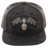 【USA直輸入】MARVEL ヴェノム フェイクレザー メタル シンボル ロゴ キャップ 帽子 スナップバック マーベル ベノム スパイダーマン Venom