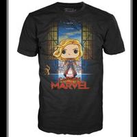 【USA直輸入】MARVEL キャプテンマーベル コレクターコープス 映画ポスター柄 Tシャツ マーベル Captain Marvel  グース