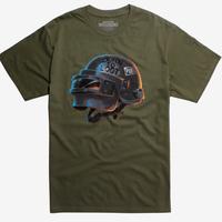 【USA直輸入】PUBG Born To Loot  ヘルメット ロゴ Tシャツ Sサイズ ゲーム ドン勝 プレイヤーアンノウンズ バトルグラウンズ  GAME