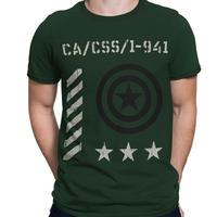 【USA直輸入】MARVEL キャプテンアメリカ アーミー  Tシャツ マーベル スティーブ ロジャース