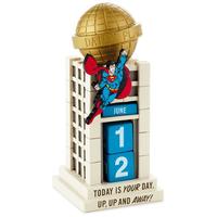 【USA直輸入】DCコミックス スーパーマン デイリープラネット新聞社 万年 カレンダー フィギュア 置物 ジャスティスリーグ クラークケント  DC Superman Daily Planet