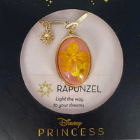 【USA直輸入】DISNEY 塔の上のラプンツェル 王国の シンボル 太陽の ロゴ & イエロー ドライフラワー ペンダント ネックレス ディズニー アクセサリー プリンセス ラプンツェル