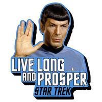 【USA直輸入】スタートレック スポック 長寿と繁栄を PVC ソフトタッチ マグネット スタトレ  Star Trek TOS