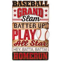 【USA直輸入】ウォールデコ ベースボール 木製 看板   野球 Baseball