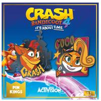 【USA直輸入】クラッシュ・バンディクー 4 クラッシュ & ココ PIN KINGS  ピン キング 1.1 エナメルピンバッジ  2個セット ゲーム GAME バッジ ピンズ