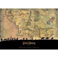【USA直輸入】ロードオブザリング ウォールアート 中つ国 マップ ポスター  Middle earth ミドルアース  Lord of The Rings 地図