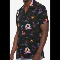 【USA直輸入】DISNEY アラジン アグラバー ナイト 半袖 シャツ 開襟シャツ ジャスミン 魔法のランプ ジーニー 魔法のじゅうたん ディズニー Aladdin  ボタンアップ