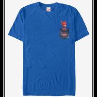 【USA直輸入】MARVEL  スパイダーバース ポケットから スパイダーハム Tシャツ スパイダーマン マーベル SPIDER-VERSE  SpiderHam  ハム ピーター・ポーカー アース