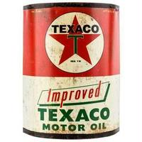 【USA直輸入】ウォールデコ ブリキ看板 テキサコ ハーフ オイル ブリキ缶 壁掛け メタルサイン 看板 インテリア   Texaco