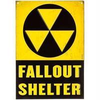 【USA直輸入】ブリキ看板 フォールアウト シェルター 壁掛け メタルサイン 看板 インテリア  Fallout