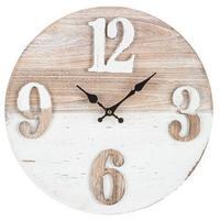 【USA直輸入】2トーン ウッド ウォール クロック 木製 時計 掛け時計 アメ雑 インテリア 置物