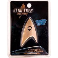 【USA直輸入】スタートレック Discovery オペレーション バッヂ マグネット式 エンブレム スタトレ  Star Trek ディスカバリー ロゴ マーク Qmx  OPERATIONS