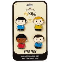 【USA直輸入】スタートレック ピンズ 4種セット スポック カーク ウフーラ マッコイ 船長  Star Trek ピン ittybittys  hallmark スタトレ