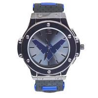 【USA直輸入】DCコミックス ナイトウィング シンボル リストウォッチ シリコン アジャスターベルト 腕時計 ロゴ 正規ライセンス ロビン バットマン DC