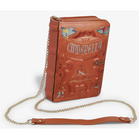 【USA直輸入】DISNEY シンデレラ ストーリーブック型 クロスボディバッグ ショルダーバッグ ディズニー ラウンジフライ  Loungefly 肩掛け  プリンセス