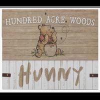 【USA直輸入】DISNEY クマのプーさん 100エーカーの森 HUNNY 木製 ウォールアート インテリア ディズニー 壁掛け ポスター 看板