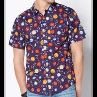 【USA直輸入】アスク ミー アバウト  ウラノス ボタンダウンシャツ シャツ 半袖   Uranus 天王星