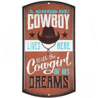 【USA直輸入】ブリキ看板 カウボーイ A Good Ol' Cowboy 壁掛け メタルサイン 看板 インテリア