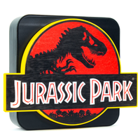 【USA直輸入】Jurassic Park ジュラシックパーク タイトル ロゴ 3D デスクランプ 壁掛け 看板 パネル ランプ ライト ルームランプ 恐竜 映画 ジュラシック・パーク