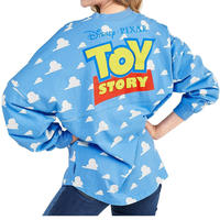【USA直輸入】DISNEY トイストーリー 雲柄 Toy Story ロゴ ドルマンスリーブ 長袖 シャツ ジャージ ディズニー ピクサー ウッディ バズ 雲 アンディの部屋