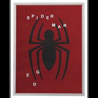 【USA直輸入】MARVEL スパイダーマン フェルト レターボード ウォールデコ 看板 ポスター 壁掛け インテリア  マーベル Spider-Man