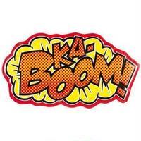 【USA直輸入】 DCコミックス KA-BOON 文字 メタル ブリキ看板 吹き出し 文字 アメコミ 効果音 壁掛け DC