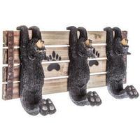 【USA直輸入】ウォールデコ ぶら下がり クマ フック 壁掛け 木製   メタル