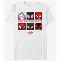 【USA直輸入】MARVEL  スパイダーバース 6 パネル ボックス Tシャツ Sサイズ スパイダーマン マーベル   SPIDER-VERSE スパイダーグウェン スパイダーハム