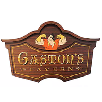 【USA直輸入】DISNEY 美女と野獣 ガストンの酒場 Gaston's Tavern 看板 ウォールサイン ガストン ベル プリンセス インテリア ディズニー 壁掛け マジックキングダムパーク