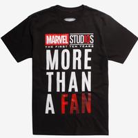 【USA直輸入】MARVEL マーベルスタジオ 10周年記念 ロゴ上 Tシャツ  10th annvarsary マーベル バックプリント 映画 MCU